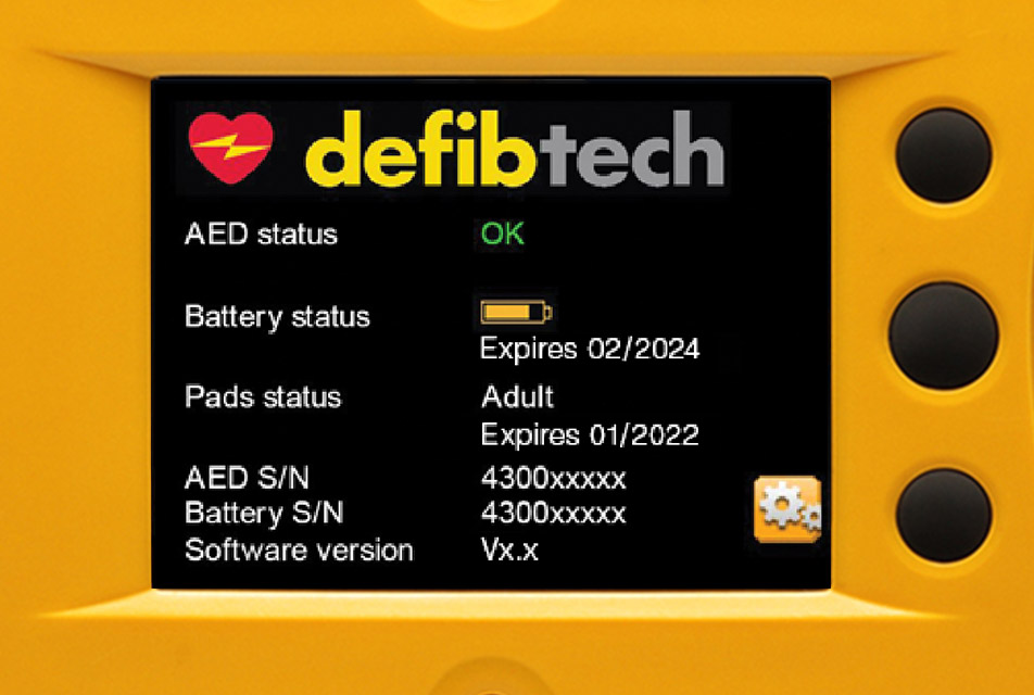 Defibtech AED Screen