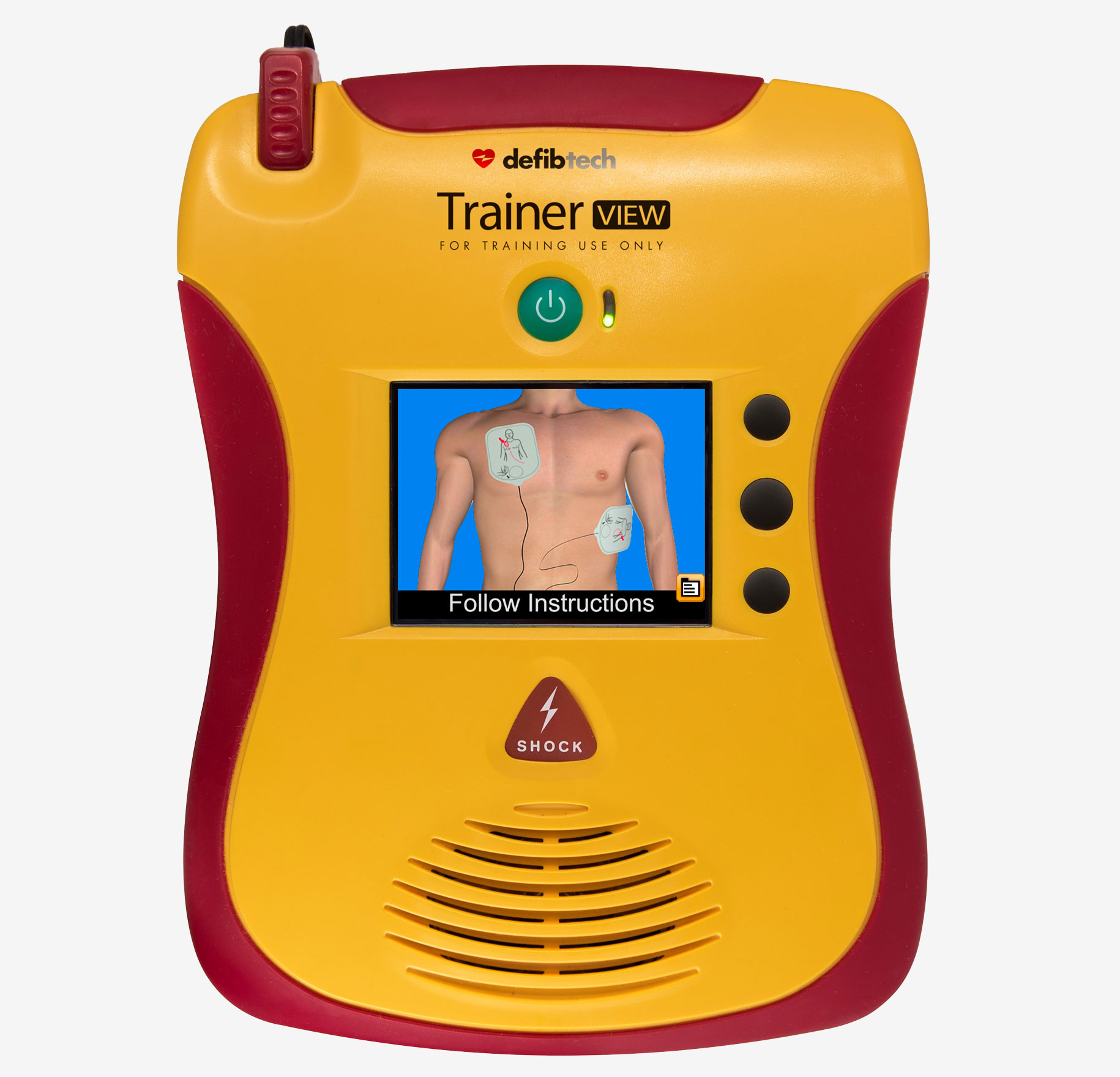 Trainer View AED Front